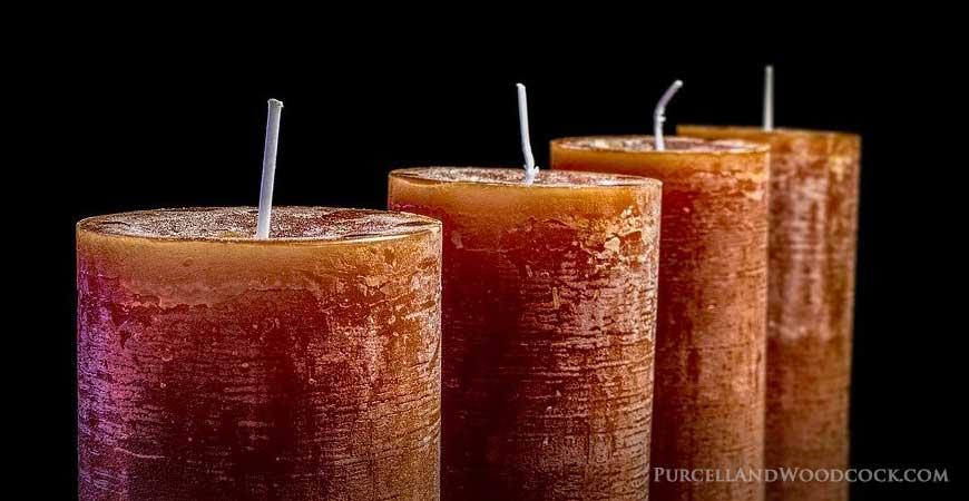 Four Orange Candles