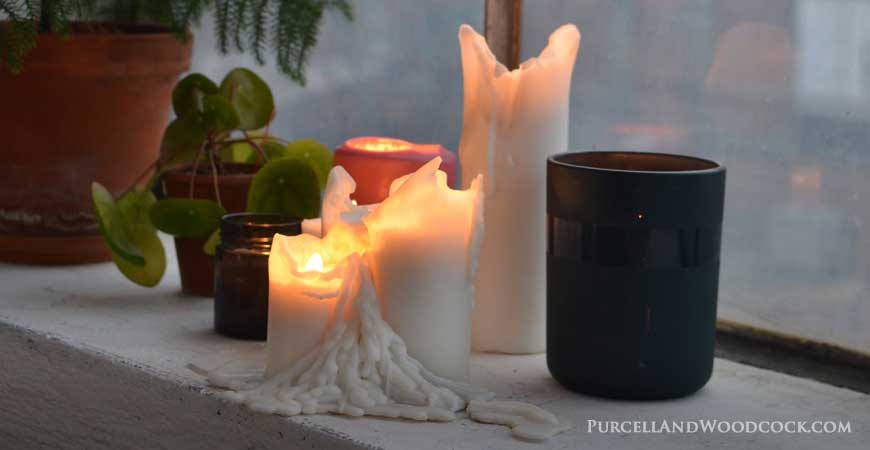Unevenly Burned Candle
