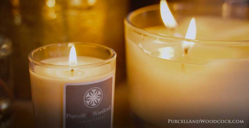 Burning Scented Candles