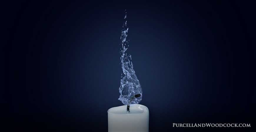 Water Candle Flame